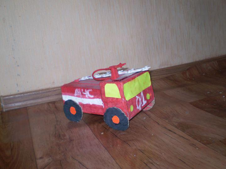 Пожарная машина, Выставка работ наших детей
