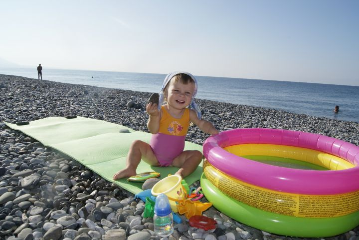 на море, Фотографии наших детей