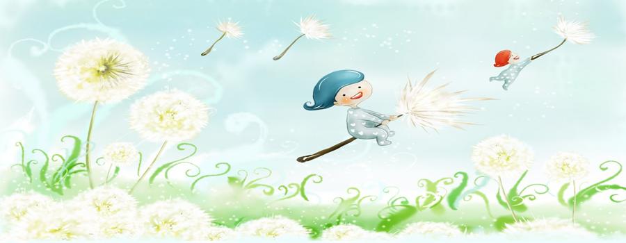 Солнечные детки с синдроом Дауна летают на одуванчиках